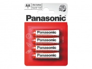 Baterie AA (R6) Zn-Cl PANASONIC Red 4BP