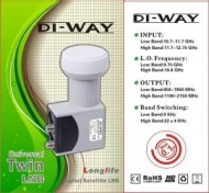 LNB TWIN DI-WAY  uni. 0,1dB