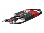 Kabel STAGG mini JACK stereo/2xCINCH 1m