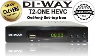 DI-WAY T2 ONE HEVC H.265 DVB-T/T2, FullHD PVR